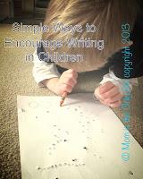 Encourage Writing – Sensory Motor activities