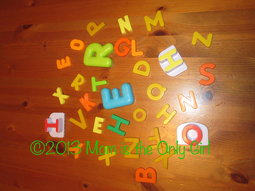 Rainy/Snowy Day Indoor Fun – Magnetic Letters