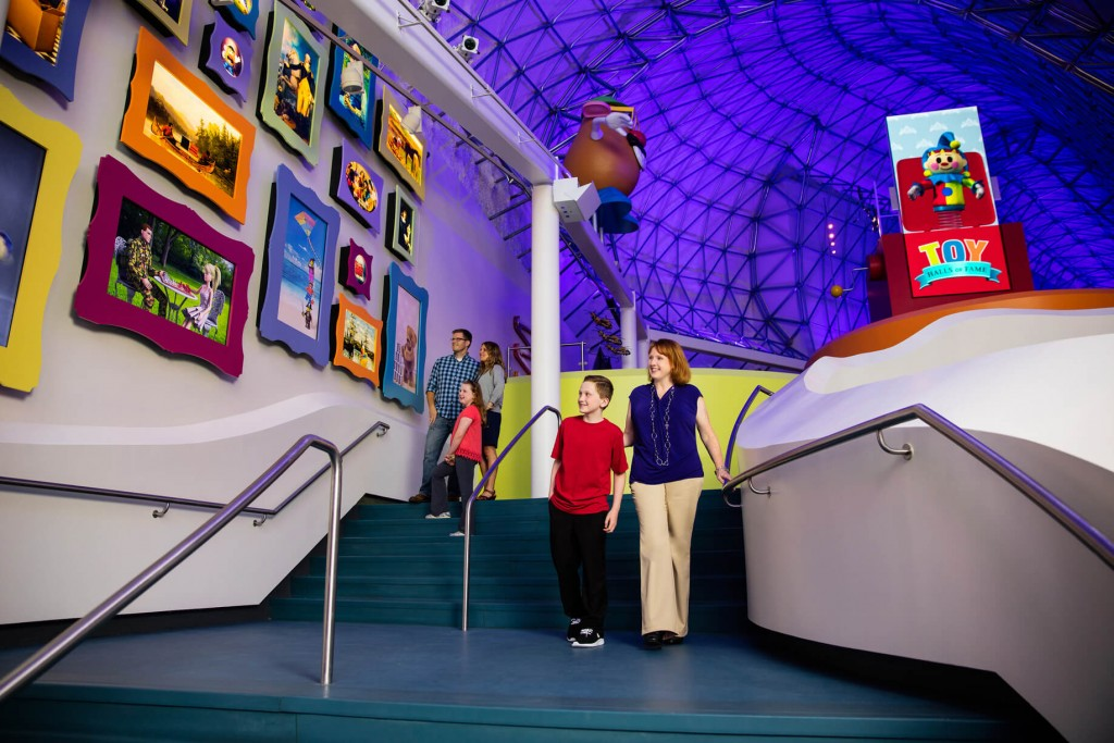 The stairs leading to The Toy Halls of Fame get you exited and wondering what's up there!