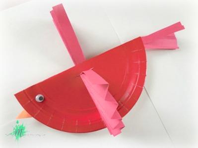 Red Cardinal Bird Craft for Stranger in the Woods https://momistheonlygirl.com
